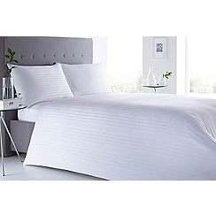 J by Jasper Conran - White 'Sateen Stripe' 220 thread count bedding set