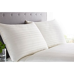 J by Jasper Conran - Cream 'Sateen Stripe' 220 thread count bedding set