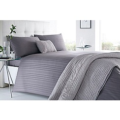 J by Jasper Conran - Grey 'Sateen Stripe' 220 thread count bedding set