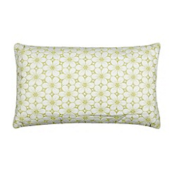 RJR.John Rocha - Designer green embroidered floral cushion