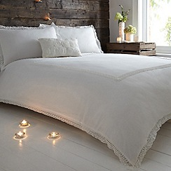 RJR.John Rocha - Ivory lace-trimmed 'Indica' bed linen