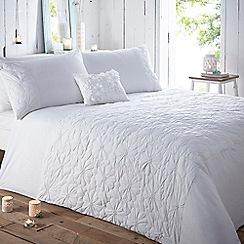 RJR.John Rocha - White padded 'Shianti' bed linen