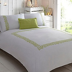 RJR.John Rocha - White and green 'Hatha' bed linen