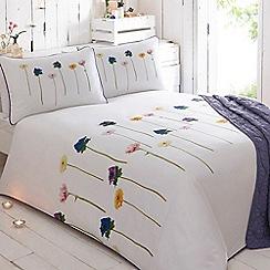 RJR.John Rocha - White 'Mai' 200 thread count floral print duvet cover