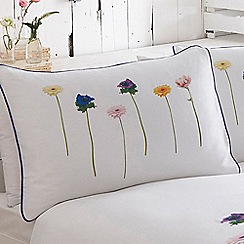 RJR.John Rocha - White 'Mai' 200 thread count floral print pillow case pair