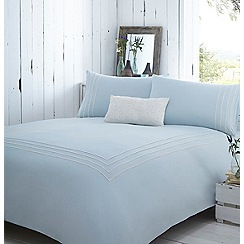 RJR.John Rocha - Blue embroidered detail 'Isla' bedding set