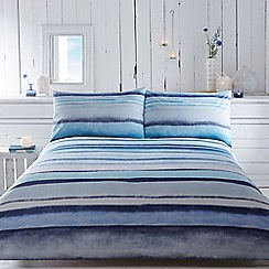 RJR.John Rocha - Designer blue 'Serene' striped ombre bedding
