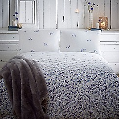 RJR.John Rocha - Designer white 'Misty stems' graduated floral bedding