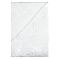 RJR.John Rocha - White leaf embroidery throw