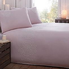 RJR.John Rocha - Designer pale pink fleur de lis bedding set