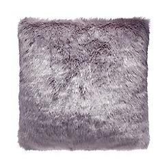 RJR.John Rocha - Light purple faux fur cushion