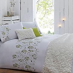 RJR.John Rocha - Green floral 'Thea' bed linen