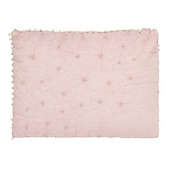 RJR.John Rocha - Light pink pinched floral cushion