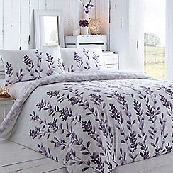 RJR.John Rocha - Purple leaf print bedding set