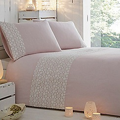 RJR.John Rocha - Pink daisy embroidered 'Erin' bedding set