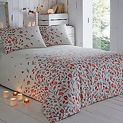 RJR.John Rocha - White and red poppy print bedding set