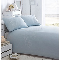 RJR.John Rocha - Aqua embroidery 'Freya' bedding set