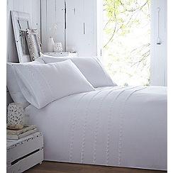 RJR.John Rocha - Cream embroidered 'Nia' bedding set