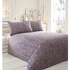 RJR.John Rocha - Purple floral 'Violet' bedding set