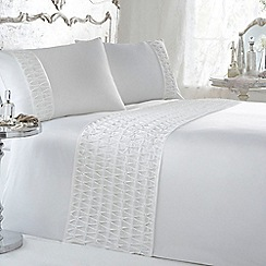 Star by Julien MacDonald - White diamante detail 'Amelia' bed linen