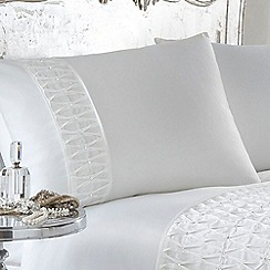 Star by Julien Macdonald - White 'Amelia' pillow case pair