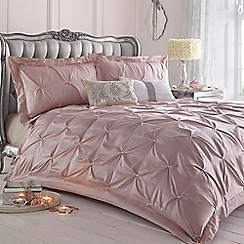 Star by Julien MacDonald - Pink ruched 'Rosette' bed linen