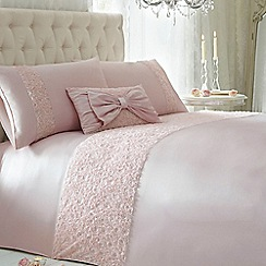 Star by Julien Macdonald - Pink ruched 'Arrietta' bed linen