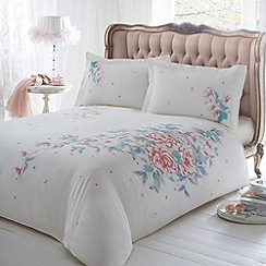 Star by Julien Macdonald - White floral print 'Aya' bed linen
