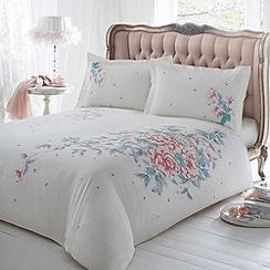 Star by Julien MacDonald - White floral print 'Aya' bed linen