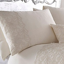 Star by Julien Macdonald - Ivory 'Lillian' pillow case pair