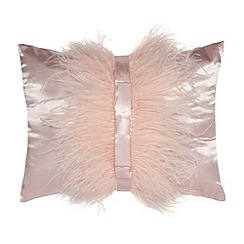 Star by Julien MacDonald - Designer light pink feather bow cushion