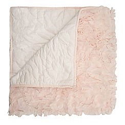 Star by Julien MacDonald - Designer pink 'Arrietta' ruffle throw