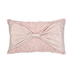 Star by Julien MacDonald - Designer pink applique roses and bow cushion
