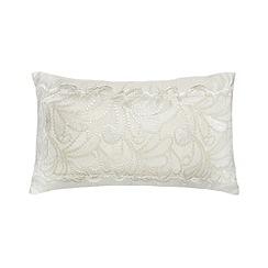 Star by Julien Macdonald - Designer ivory 'Lillian' cushion