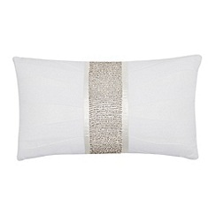 Star by Julien MacDonald - Designer white diamante cushion