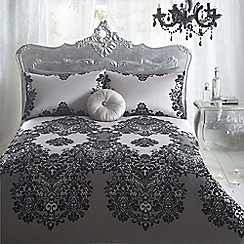 Star by Julien Macdonald - Designer silver 'Ariana' flocked bed linen