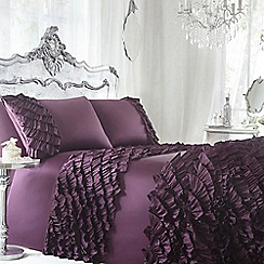 Star by Julien Macdonald - Designer dark purple 'Safia' bed linen