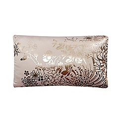 Star by Julien Macdonald - Designer rose metallic floral cushion