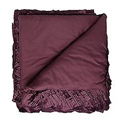 Star by Julien Macdonald - Designer plum ruched throw