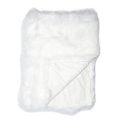 Star by Julien Macdonald - Designer white faux fur throw