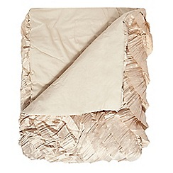 Star by Julien Macdonald - Gold 'Safia' satin throw