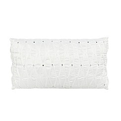 Star by Julien Macdonald - White diamante cushion