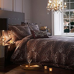 Star by Julien Macdonald - Brown animal print 'Sienna' bed linen