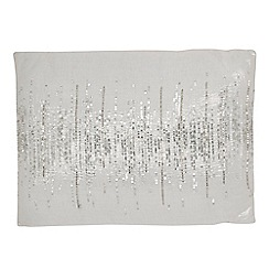 Star by Julien Macdonald - White sequin embellished cushion