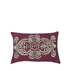 Star by Julien Macdonald - Purple embellished cushion