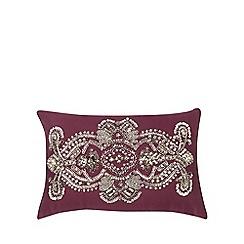 Star by Julien Macdonald - Purple embellished cushion