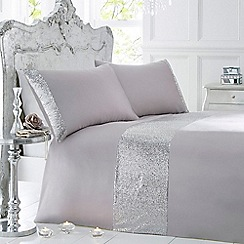 Star by Julien Macdonald - Silver sequin bedding set