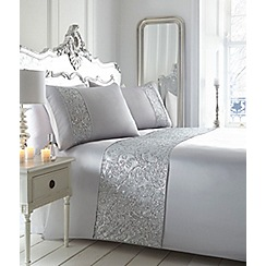 Star by Julien Macdonald - Silver embellished 'Catriona' bedding set