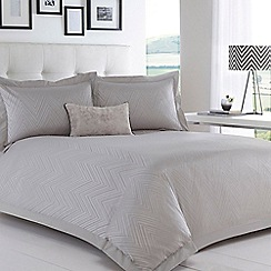 Betty Jackson.Black - Grey 'Greta' 200 thread count duvet cover