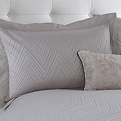 Betty Jackson.Black - Grey 'Greta' 200 thread count Oxford pillow case pair